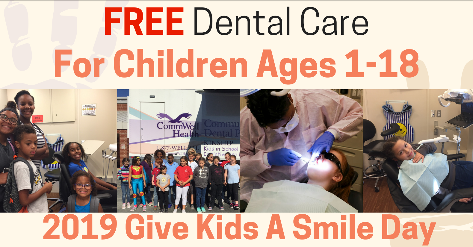 Free Dental Care to Children 18 and Under